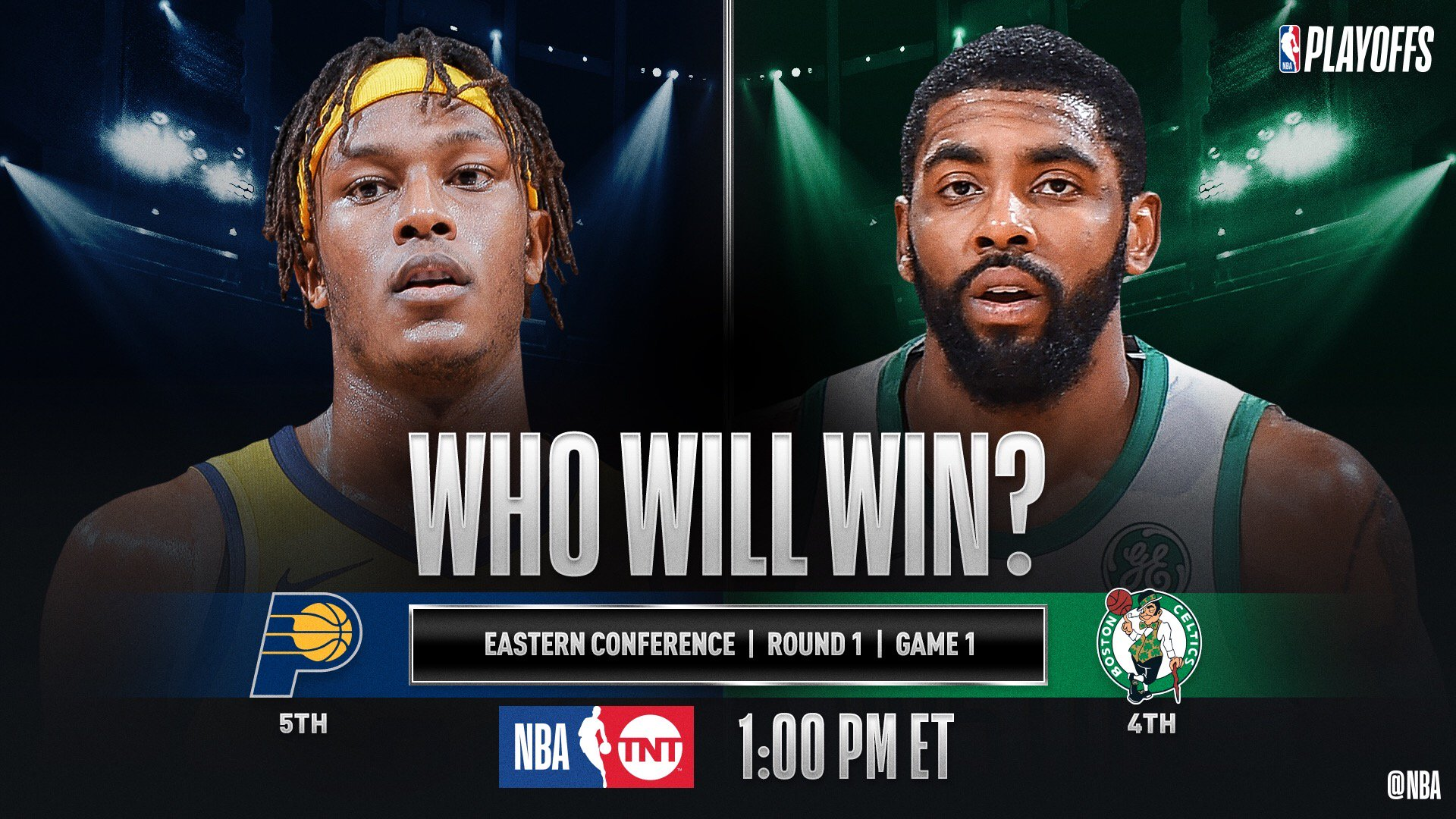 �� No. 5 in the East @Pacers visit No. 4 @celtics to open Sunday's #NBAPlayoffs action (1:00pm/et, @NBAonTNT)! �� https://t.co/xGLE2FUQgt