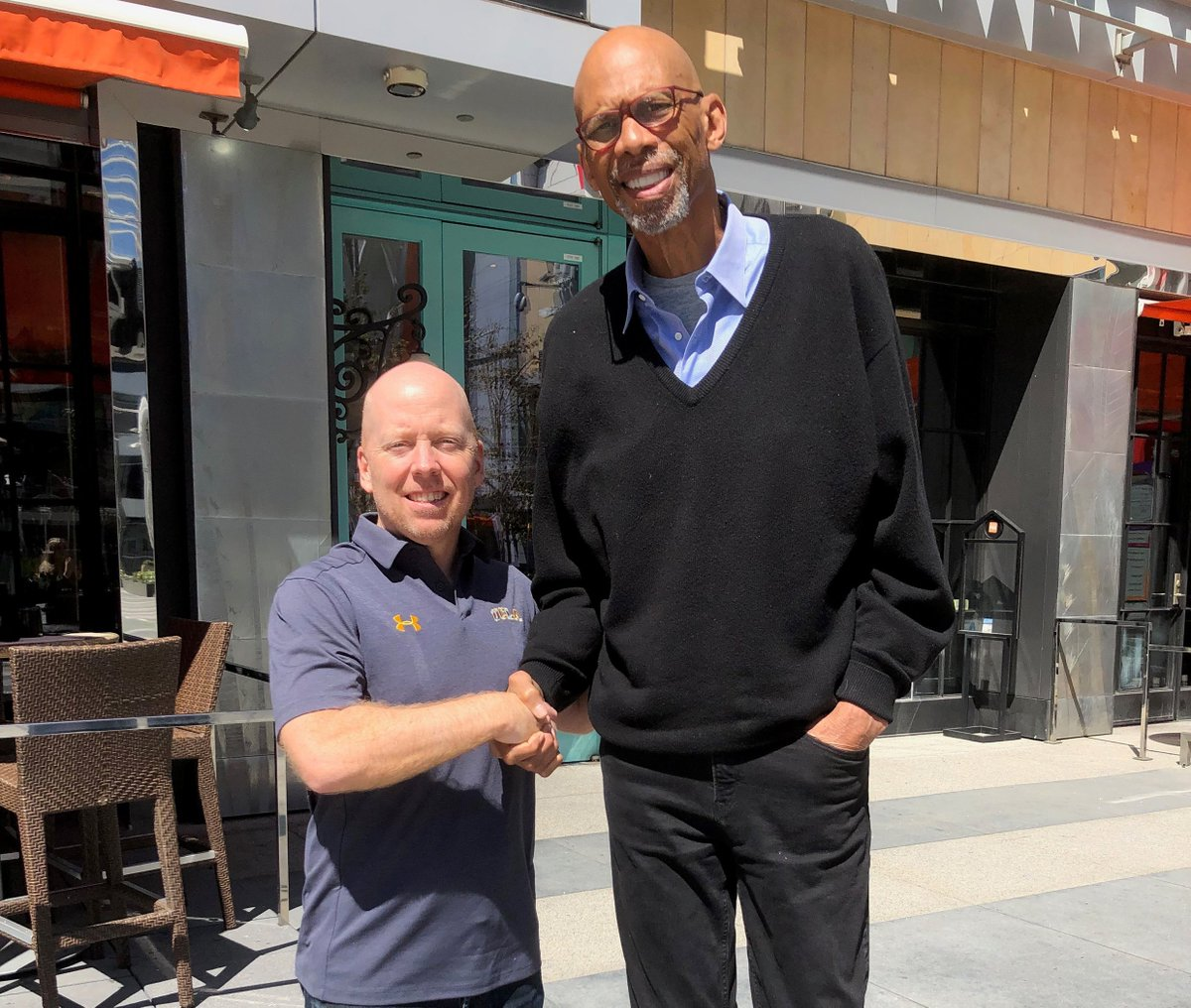 Perks of the job! Accepting the kindest invitation to lunch yesterday from one of my idols (@kaj33). He loves UCLA with all his heart. #BruinFamily