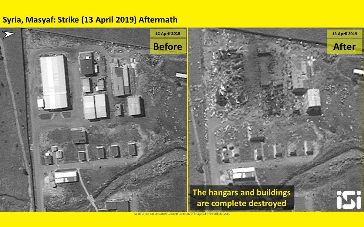 """موقع إسرائيلي: القصف على """"مصياف"""" السورية دمر صواريخ إيرانية من نوع """"زلزال 2"""" D4IP43SX4AE64Fz"""