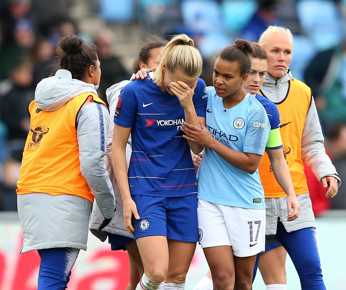 A photo that encapsulates the ups and downs of sport. And a reminder of the values, win, lose or draw, that bind us. Class gesture @lilkeets.