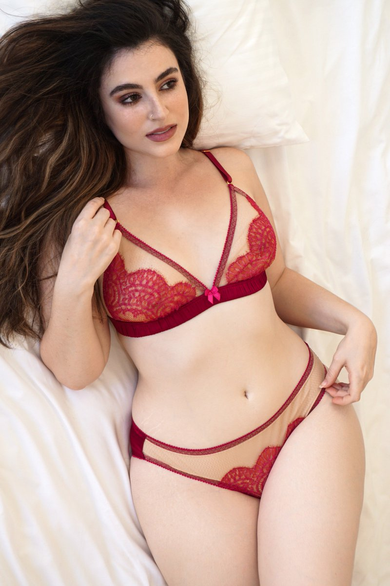 c4a6255fcc05 New photos in: the Giselle range in cranberry red silk https:// angelafriedman