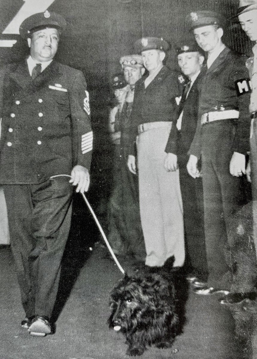 FDR's dog Fala being taken to his funeral train:
