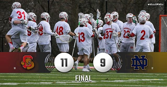 Cornell looks to regroup Sunday at Notre Dame