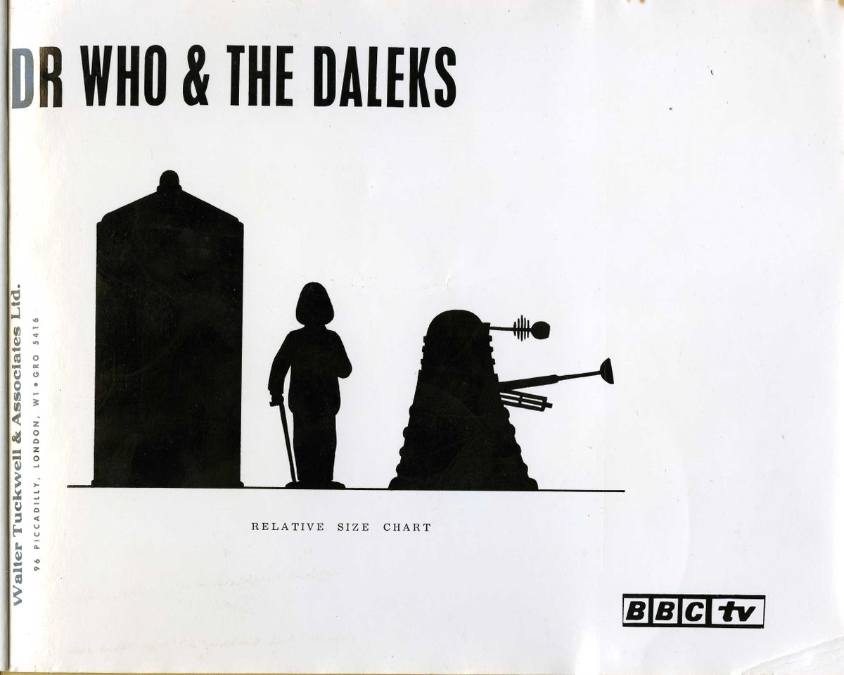 Dr. Who merchandise licensing separated by 40 years. 2 of the 4 pages in the Walter Tuckwell 1964 licensing brochure and 4 of the 96 pages in the 2005 style guide. The whole Tuckwell guide can be seen at  http://www. thespacemuseum.net  &nbsp;  <br>http://pic.twitter.com/vcWkdYMRDn