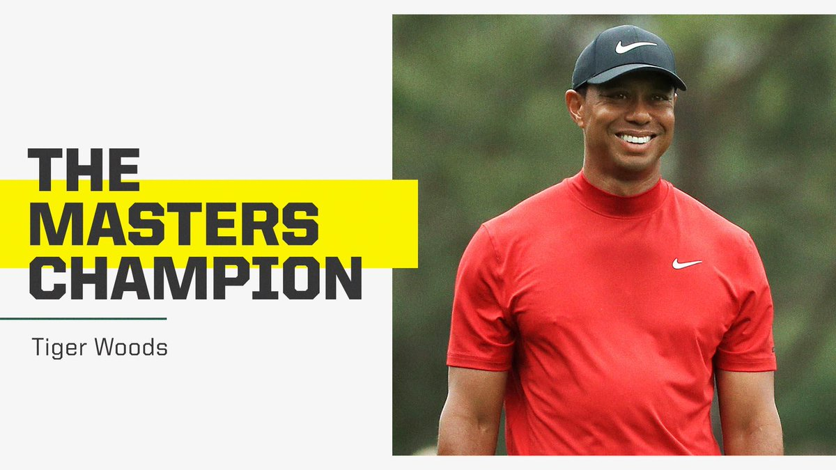 HE'S BACK ON TOP!  TIGER WOODS WINS HIS FIRST MAJOR SINCE 2008! 👏