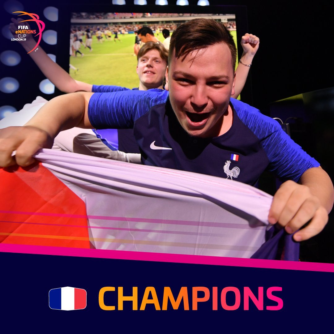 Congratulations to @efootdefrance 🇫🇷! The first #FIFAeNationsCup champions 👑 🏅