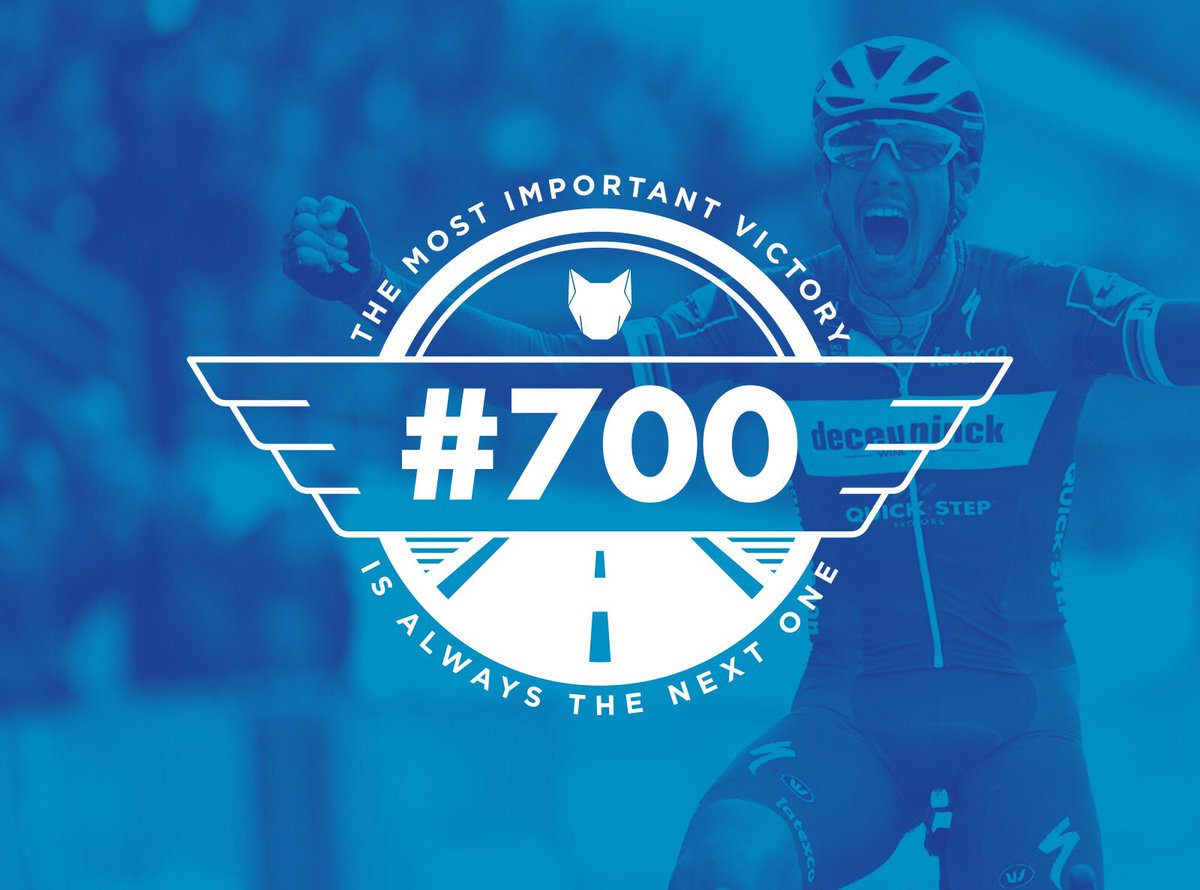 To celebrate the 700th victory in the history of Deceuninck - Quick-Step, we're giving away @PhilippeGilbert's jersey, with the signature of the #ParisRoubaix champion. To have a chance at this, follow us and retweet this post. https://t.co/koiZcZMNzX