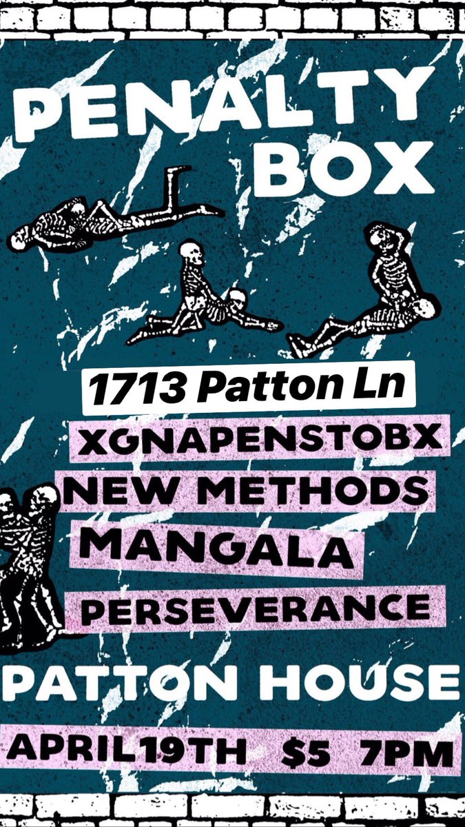 new methods' first show in austin on friday. come the fuck through.