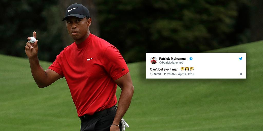 �� is BACK.  NFL players react to @TigerWoods' fifth @TheMasters victory: https://t.co/a3OwDNcpMj #TheMasters https://t.co/L4dfnlDsv4