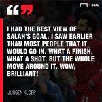 Describe Mohamed Salah's goal against Chelsea in one word.👇