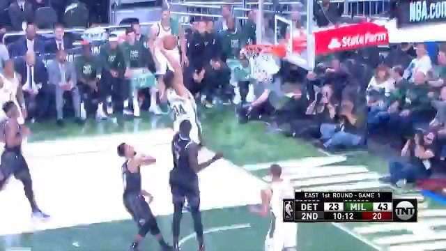 Giannis and Brook Lopez put up 14 PTS apiece in the 1st half of Game 1! #FearTheDeer #NBAPlayoffs  ��: @NBAonTNT https://t.co/koqtFH0kVc