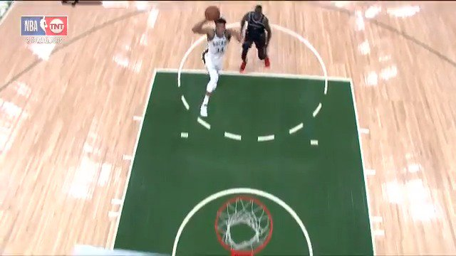OH MY GIANNIS! ��  Taking off from just inside the foul line ��  #FearTheDeer #NBAPlayoffs  ��: @NBAonTNT https://t.co/2a21cIAnJ7