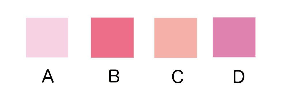みなさまにお聞きしたいことがあります。みなさんの体感的で一般的な「ピンク」とはどの色ですか? 好みのピンクを選ぶのではなく「ピンク」と言えばこの色かな?という色を教えてくださいませ。お手数ですが選択肢は下のスレッドから選んでポチしてください。