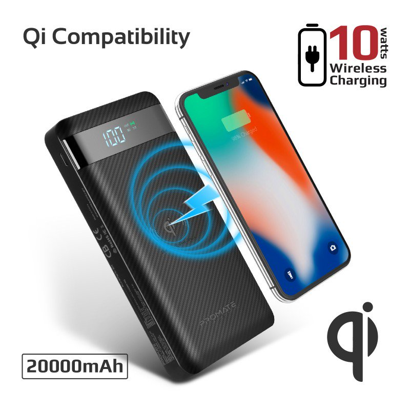 Promate AuraTank-20: 10Watt Fast-charging Wireless Power Bank with 18W Power Delivery & Quick Charge QC 3.0 • 20000mAh • Qi Certified • USB-C 18W PD • Qualcomm QC 3.0 • 3 Input Ports • Automatic Voltage Protection.  #Promate #wireless #Power_Bank #power #Chargers #Battery https://t.co/13JxuCmKgt