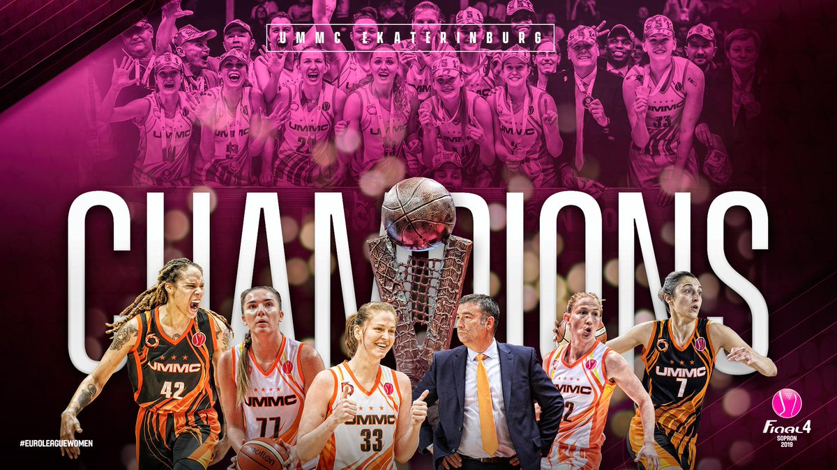 The 2⃣0⃣1⃣9⃣ #EuroLeagueWomen Champions @BC_UMMC 🏆🏆🏆🏆🏆.  📖 http://go.fiba.basketball/ELW_Final_Review …