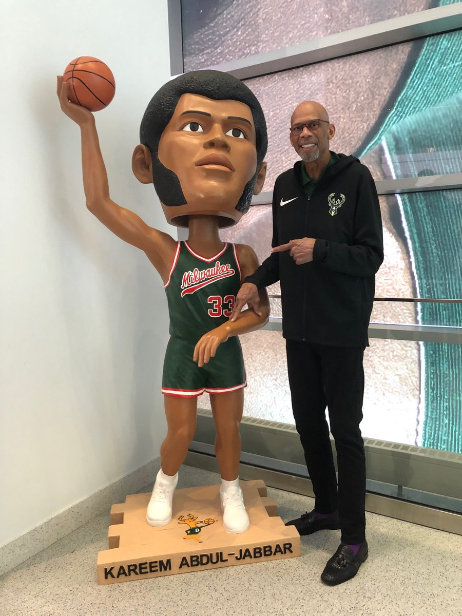 Giant bobble head of me by Authentics Kiosk on the main concourse - great  photo op- check it out ! @Bucks
