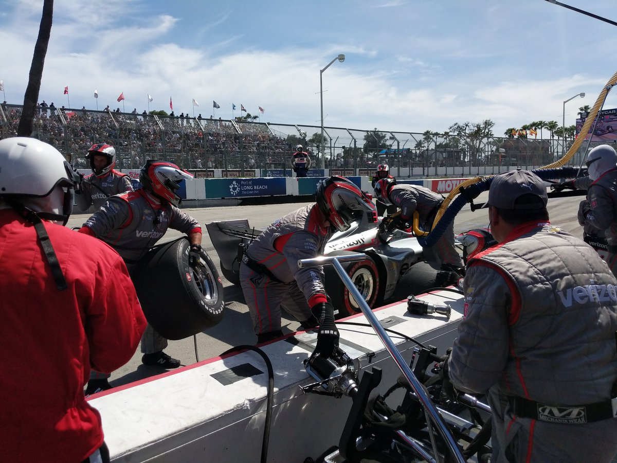 Will makes his second pit stop of the day on Lap 57. // #Penske6Wide / #INDYCAR / #AGPLB