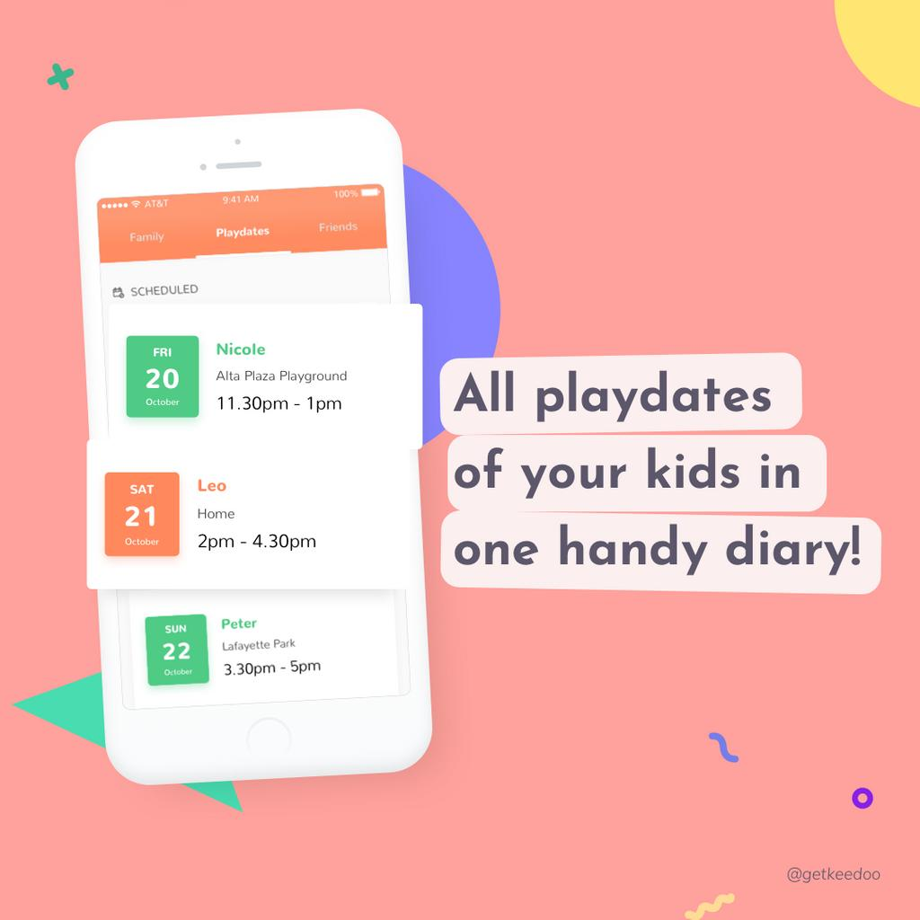 😌 Invite and get invited! Gather all your playdates in one awesome feed inside Keedoo's app! —— #playdate #playdates #playdatefun #kids #kidsplaying #kidsplaydate #children #childrenplaying #childrentoys #keedoo #keedooplaydates https://t.co/NVJ8lnk8fm