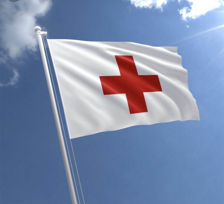 17. So last month, the @ICRC sent its president to Syria to visit Hol. One of his duties was to raise the Red Cross flag high among the tents, so that if she is there she can see it, and use it as a beacon. I sure hope she comes home soon.