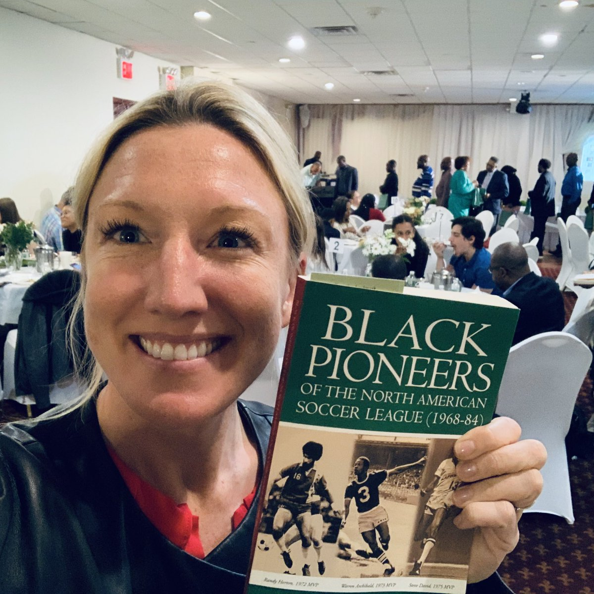 Congrats to Patrick Horne on his book, Black Pioneers of the NASL (1968-84). Thanks for an inspiring event with so many legends of the game... I learned, laughed, met amazing people, and of course, bought my copy! Proud to rep @UnitedCoaches x