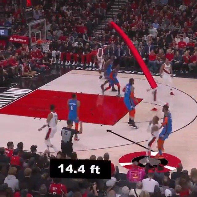 Damian Lillard showed off his range in today's @trailblazers home W! #NBABreakdown #RipCity #NBAPlayoffs https://t.co/MYto217uPw