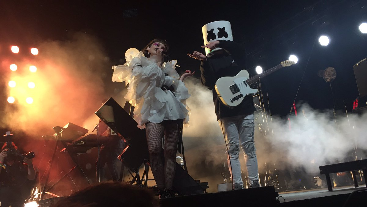 Image result for coachella chvrches marshmello