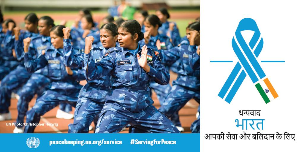 #DYK that #India has provided more than 200,000 military and police officers to @UNPeacekeeping over the last 70 years? The @UN 🇺🇳 thanks #India for its commitment to maintaining peace, harmony and #ServingForPeace across the world! http://bit.ly/2LWlsXu
