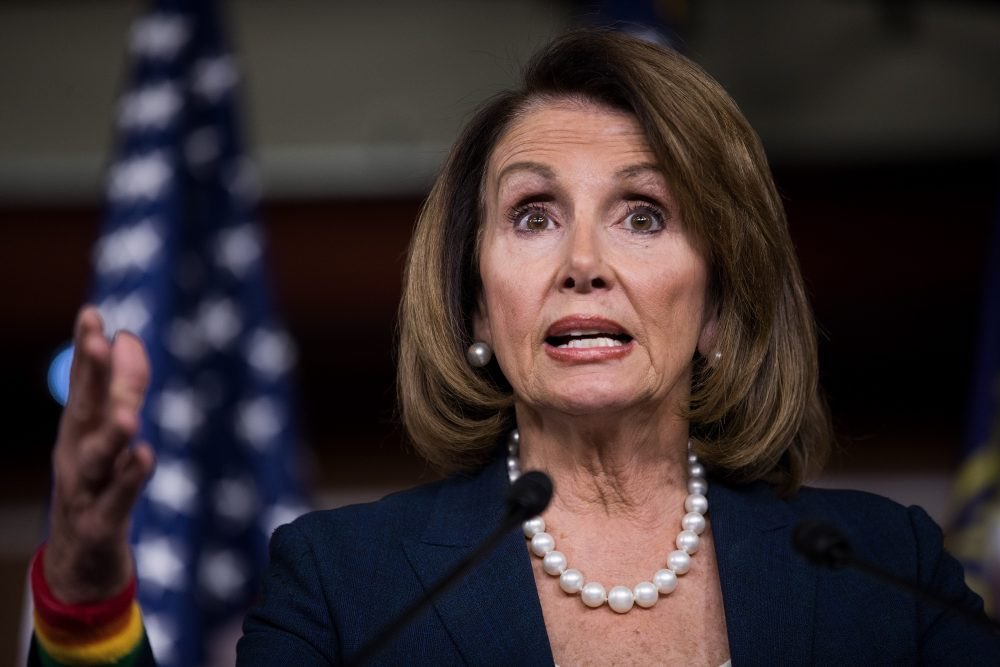 "In Nancy Pelosi's interview on 60 Minutes tonight, she called out Trump's lies and deceit. He responded by calling her leadership ""meaningless"" and a ""disaster."" She has won every battle and been 10 steps ahead of him while doing it.   RETWEET if you support @SpeakerPelosi!"