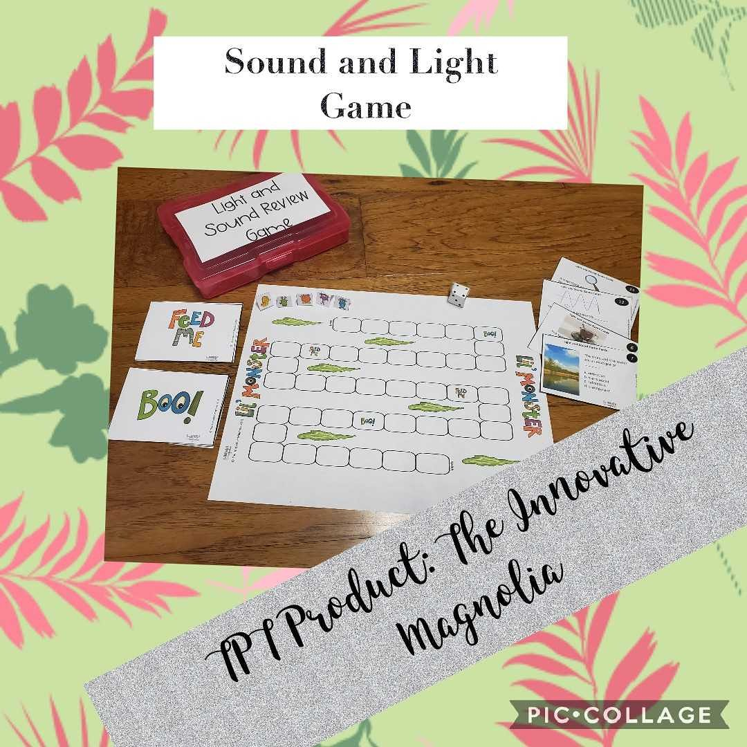 Check out my new TPT Product for Sound and Light. teacherspayteachers.com/Store/The-Inno…