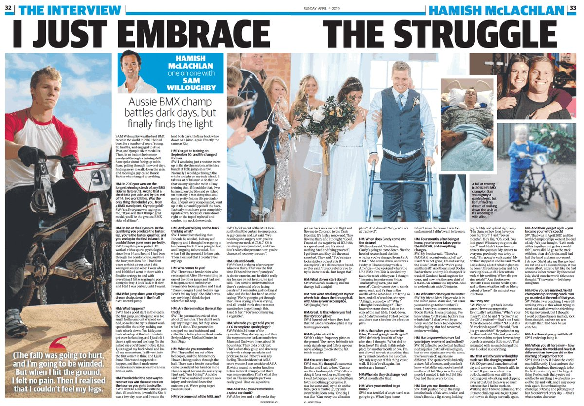 42646e4b Inspiring words from @SW91 in his interview with Hamish McLaughlin in  @theheraldsun. Read here [paywall]: http://bit.ly/2UebSyA  pic.twitter.com/gcoNp2QT7E