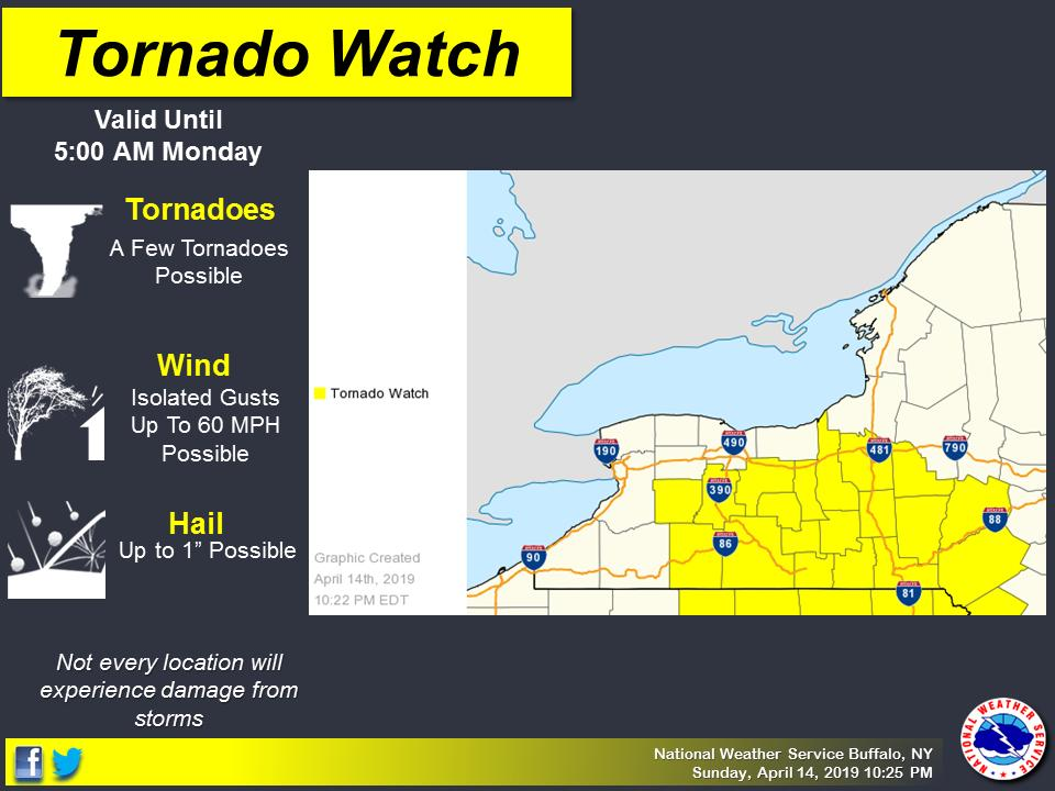 TORNADO WATCH: NWS issues watches/warnings as line of storms moves through FLX