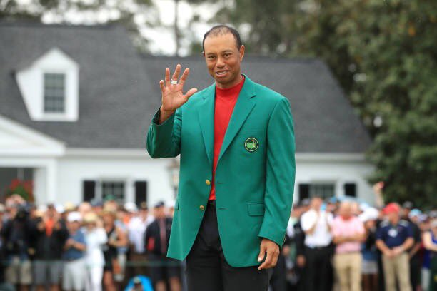 Goodnight. Sleep tight. Tiger Woods is a Masters champion for the fifth time. @TigerWoods