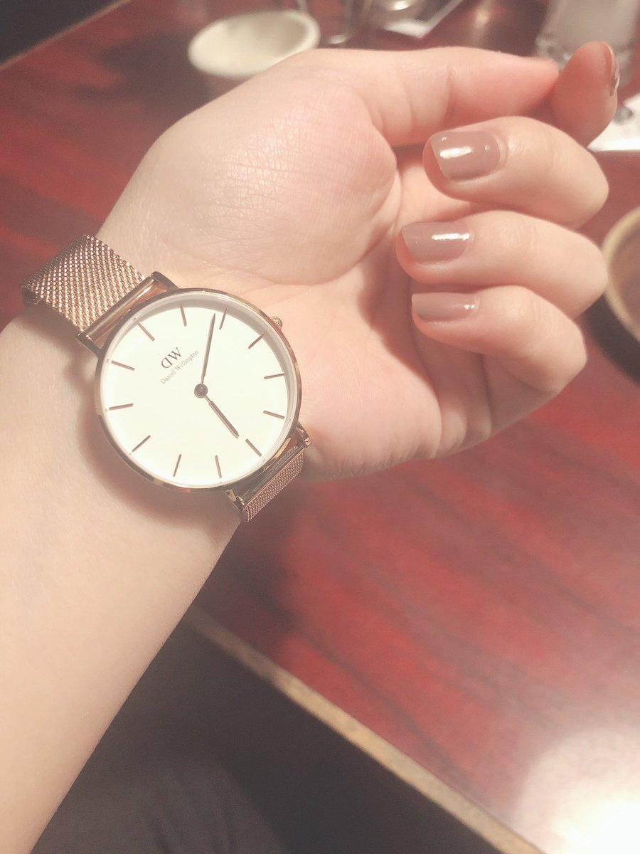 妹くんから就職のお祝いでDaniel Wellingtonの時計もらった〜〜???