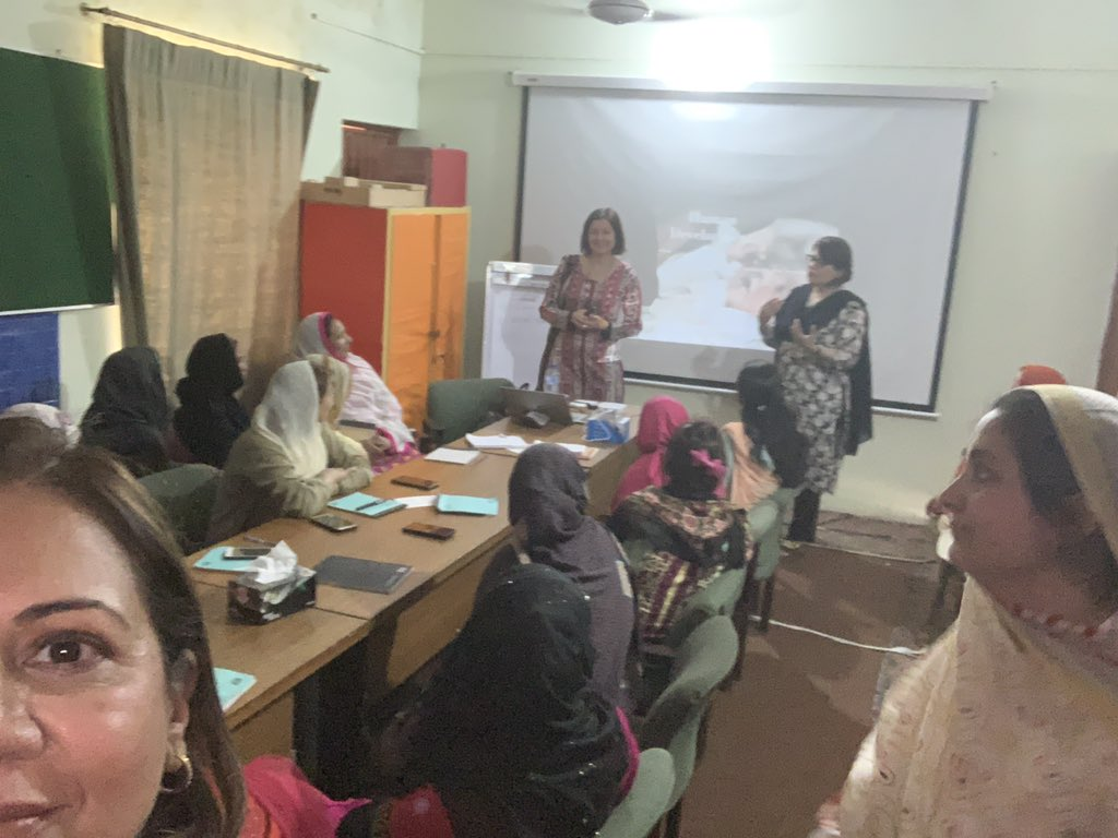 We are at rural sited http://MashalTrust.org Model Sch, Mohalla Dhakki, Noorpur ISB. Talking with teachers who are keen to discuss/address behavioural issues of their pupils & poss solutions.  Development disturbance, detachment effects of trauma result in unexpected behaviour.