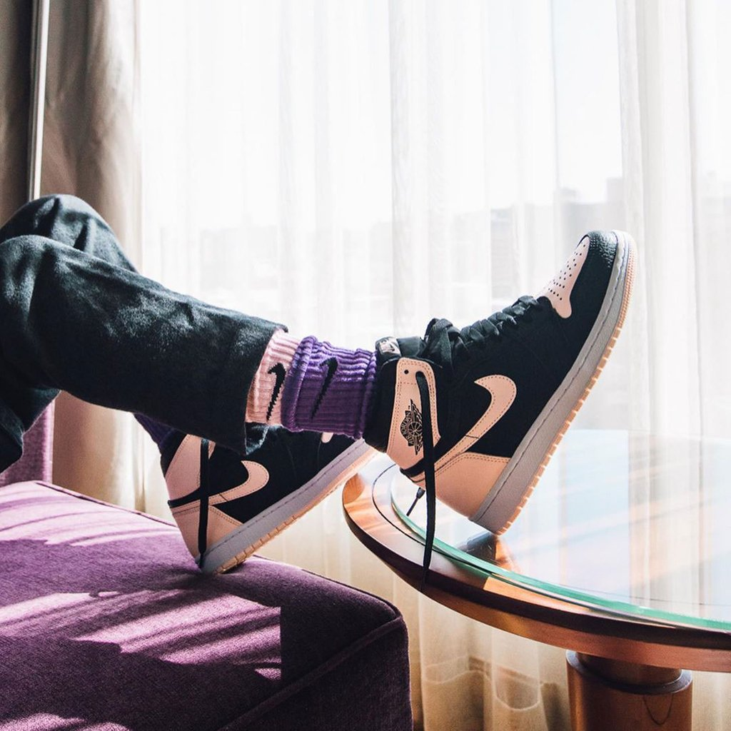 433c72323c4ec8 double the sock double the swoosh suss how others are styling their air  jordan 1 crimson