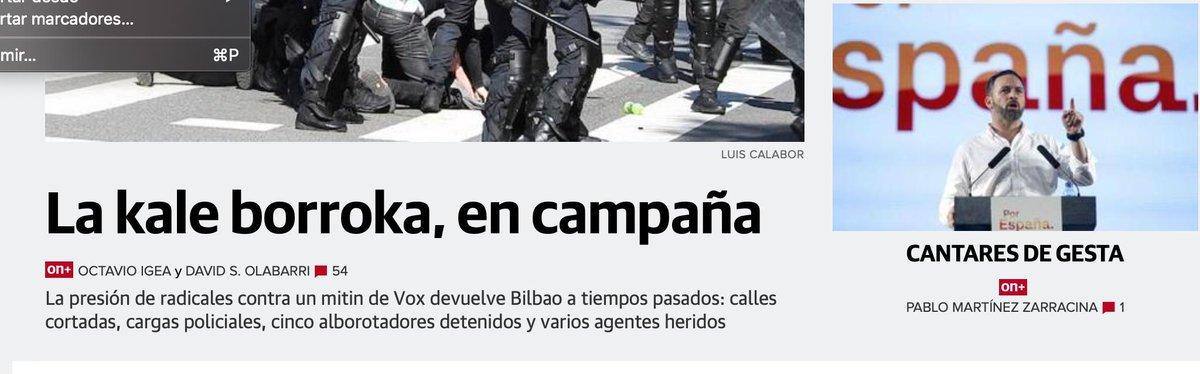 Desmontando las mentiras y las manipulaciones sobre la movilización antifascista de Bilbao Aquí vamos a intentar desmontar la manipulación, el fake news, la criminalizacion, los montajes, etc... http://sareantifaxista.blogspot.com/2019/04/desmontando-las-mentiras-y-las.html…