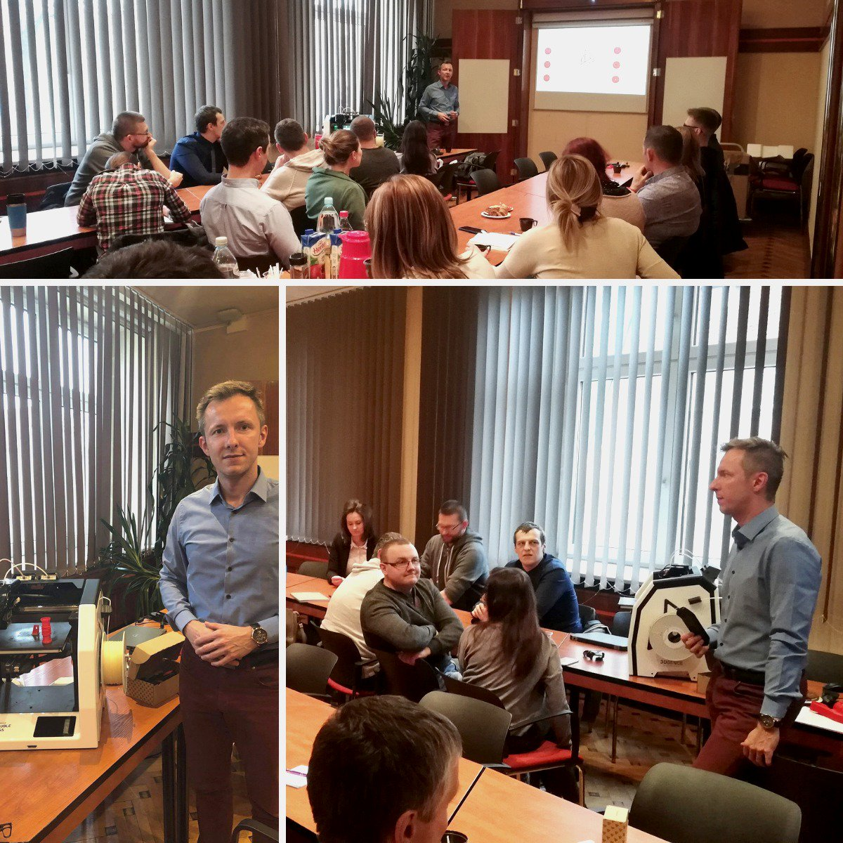Academy Smart Production again at The Silesian University of Technology! During this event #3DGence specialist told future #engineers about possible applications of #3Dprinting in the #industry!   @Politechnika