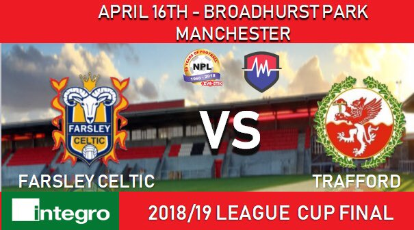 We are proud to be hosting Farsley v Trafford tomorrow night at Broadhurst Park 👍  More details 👉  http://www.evostikleague.co.uk/integro-league-cup-final-supporter-information-56423 …  #FCUM