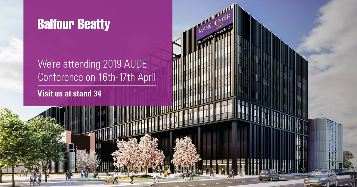 We're proud sponsors of @AUDE_News's Annual conference taking place from today until Wednesday. Join us at @LancasterUni to discuss the future of Higher Education facilities. #Aude19