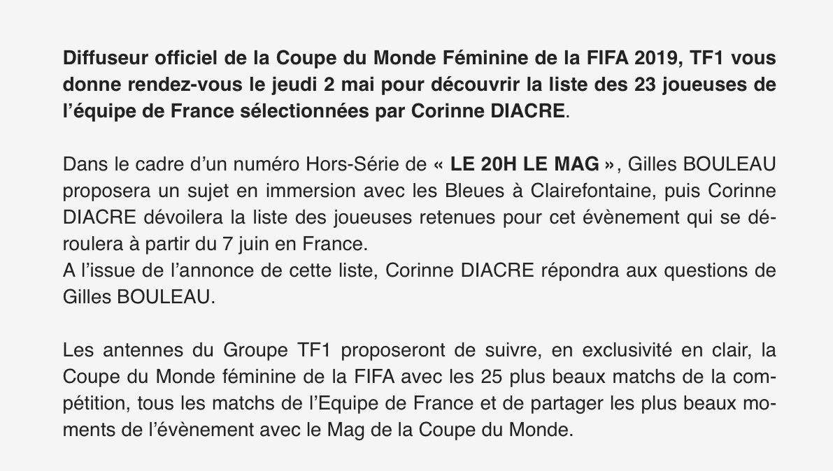 Communiqué TF1 Liste Bleues