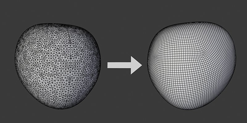 With AutoFlow, you can automatically retopologize your 3d sculpts &amp; scans in a single click!   Now available on Blender Market:  http:// bit.ly/2v5EgZv  &nbsp;    #b3d #blender3d #gamedev #retopology #vfx<br>http://pic.twitter.com/kDZUtnWABK