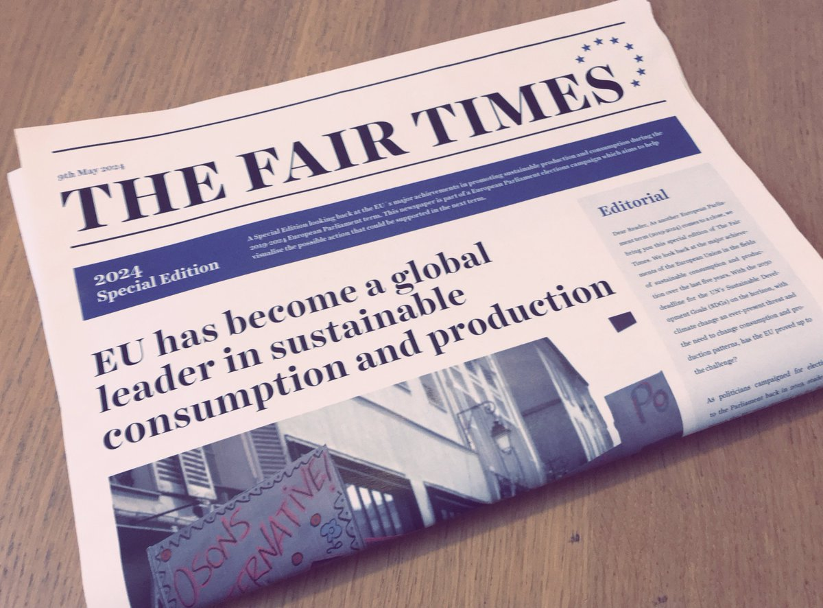 Glad to see #coops contribution & member @REScoopEU mentioned in @FairTradeFTAO EU elections campaign #TheFairTimes!  Coops have supported fair trade & led sustainable consumption for decades. Join us in showing how #CoopsInspireChange around the globe: https://t.co/c8KjC6rajF