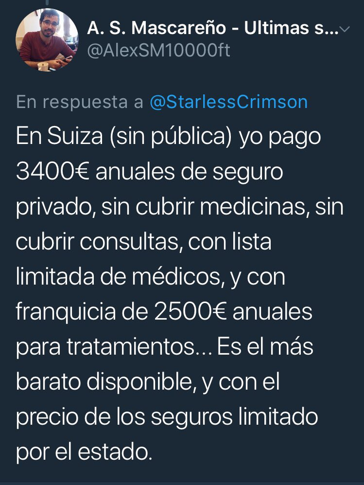 Aquí la gente cree que su póliza de seguro médico le seguirá costando 60€/mes, pero el día que se carguen la sanidad pública las cosas van a cambiar y mucho.
