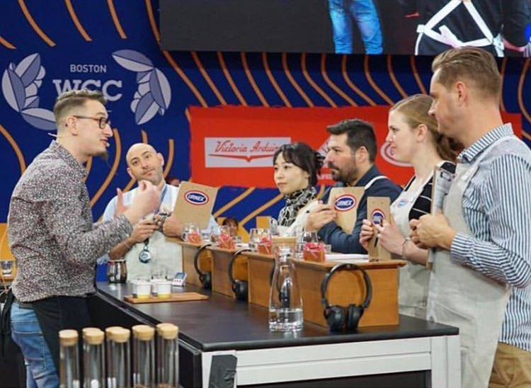 We're so proud of Wojciech, overall he finished 20th in the World Barista Championships #BostonWCC #CoffeeExpo2019 @SCA_Ireland @WCoffeeEvents