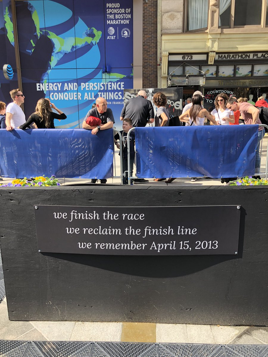 Today we remember the victims of the Boston Marathon bombings, cheer on the survivors, and show our strength as a city on this Marathon Monday. https://t.co/2GHnp5MpDY