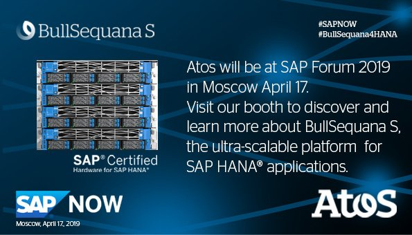 .@Atos will be at #SAPForum in Moscow April 17th.On our booth the #AtosTeam will...