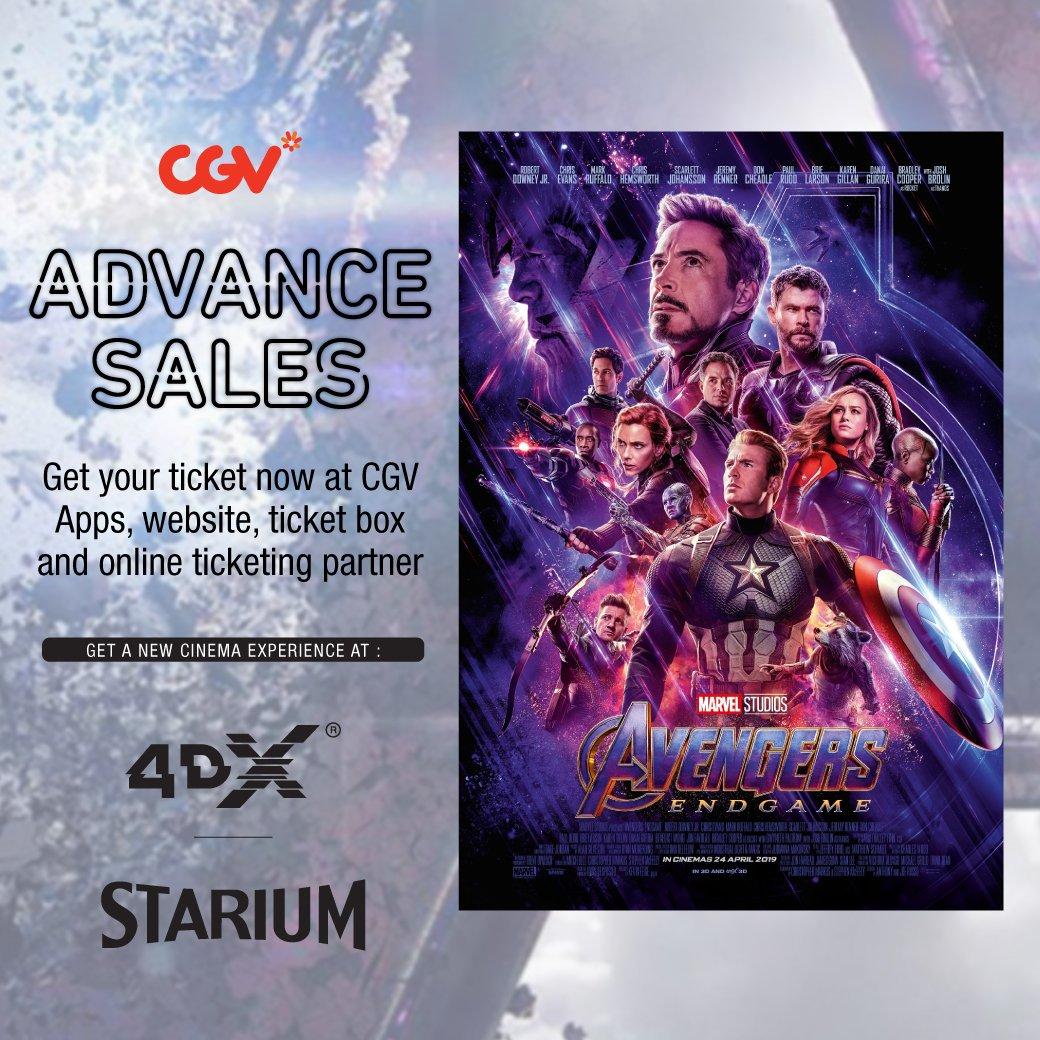"""cgv cinemas on twitter: """"5 jam lagi tiket pre-sale #avengersendgame"""