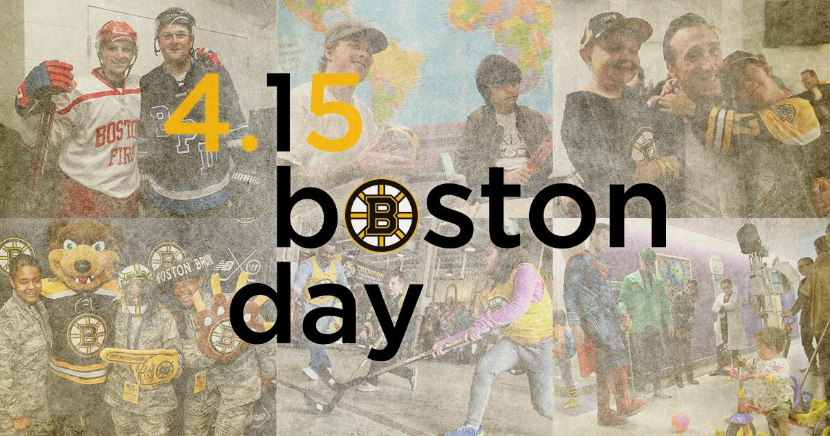 Together, as a community, we are one. Celebrate Boston&#39;s strength and kindness, today and every day. #OneBostonDay <br>http://pic.twitter.com/OM6UvWV66N