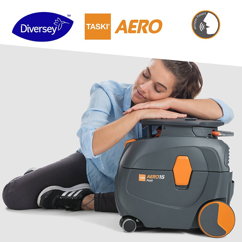 With our patented #TASKIwhispertechnology, the new #TASKIAERO can work on a level of 50 decibels, making it the quietest vacuum cleaner on the market today. Learn more about how to vacuum at any time of the day without disturbing the environment: http://ow.ly/tJQp50p5CIE #Diversey
