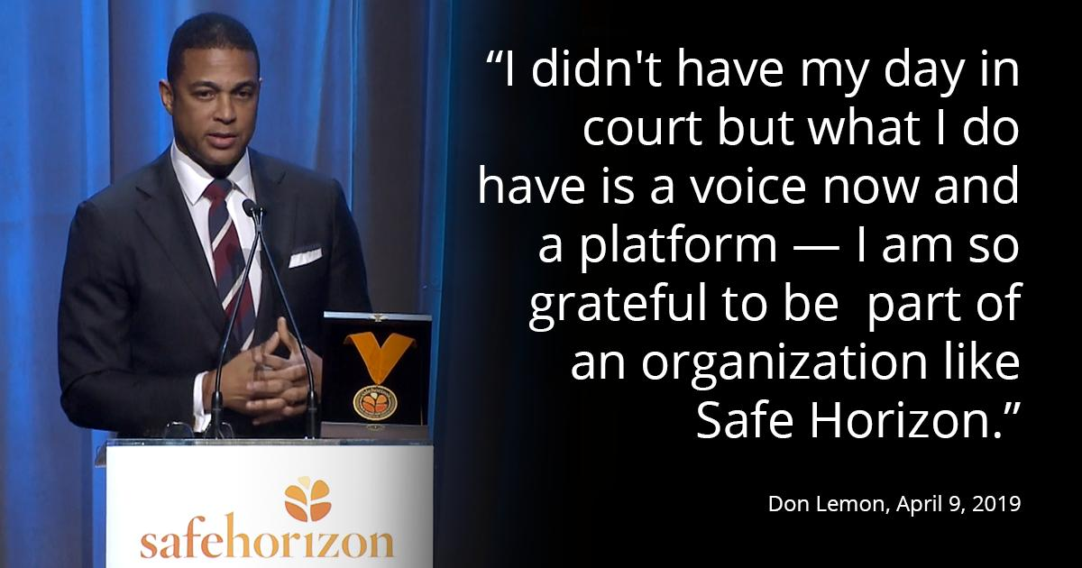 Inspiring words from @donlemons speech at @safehorizons 24th Annual Champion Awards last week. You can check out more photos from the event here: hubs.ly/H0hryyx0